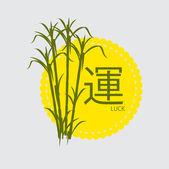 Sugarcanes rostliny Vector šablony