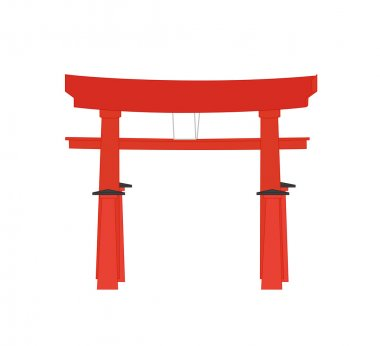 Japanese Torii Gate Vector
