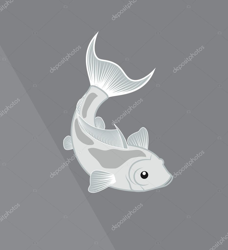 Vector de peces Koi vintage — Archivo Imágenes Vectoriales © baavli ...