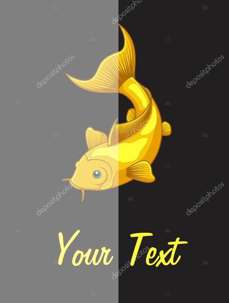 Plantilla de Vector de peces koi — Vector de stock © baavli #124685574