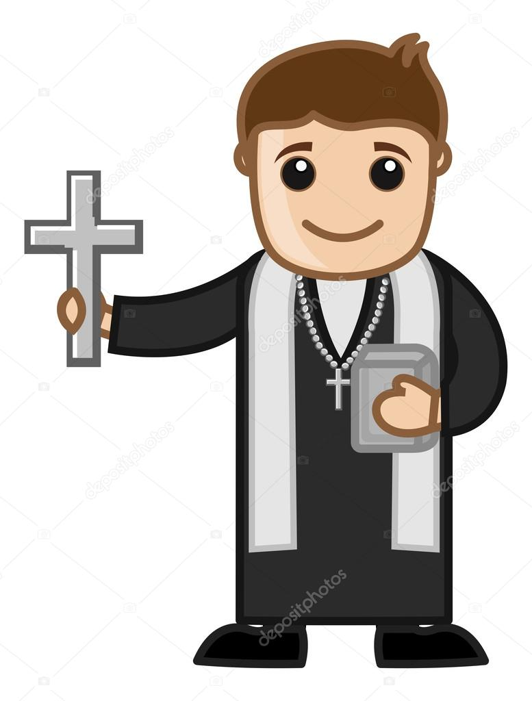 Pr tre vecteur personnage cartoon illustration image for Stock cuisine saint priest