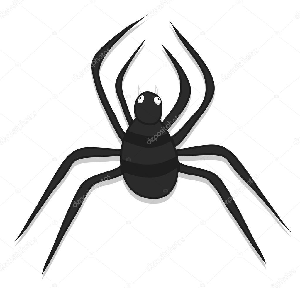 Araña de Halloween espeluznante — Vector de stock © baavli #57019703