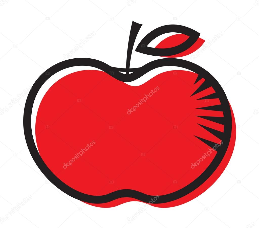 red apple clipart design stock vector baavli 57145683 rh depositphotos com red apple clipart free bitten red apple clipart