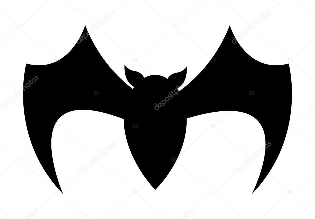 comic scary halloween bat silhouette vector illustration vector by baavli