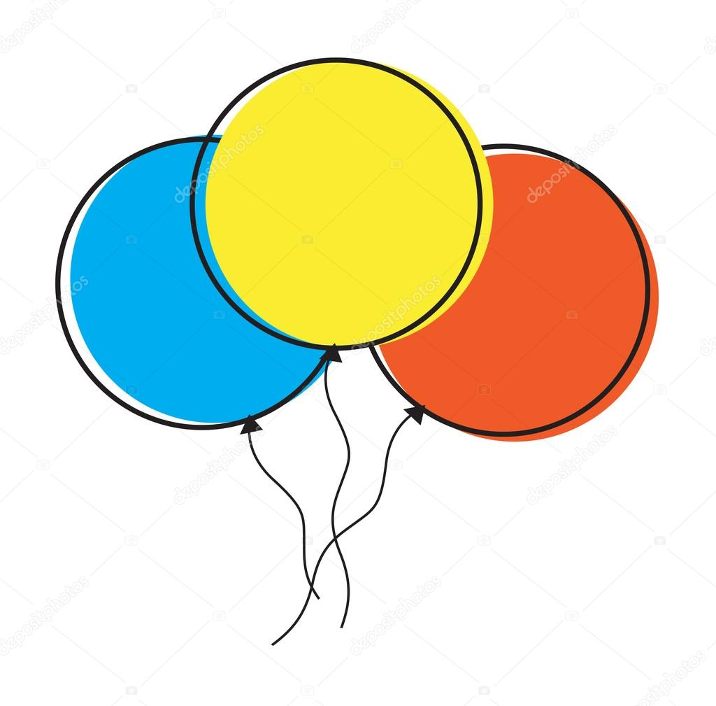 Colorful Balloons Clip Art