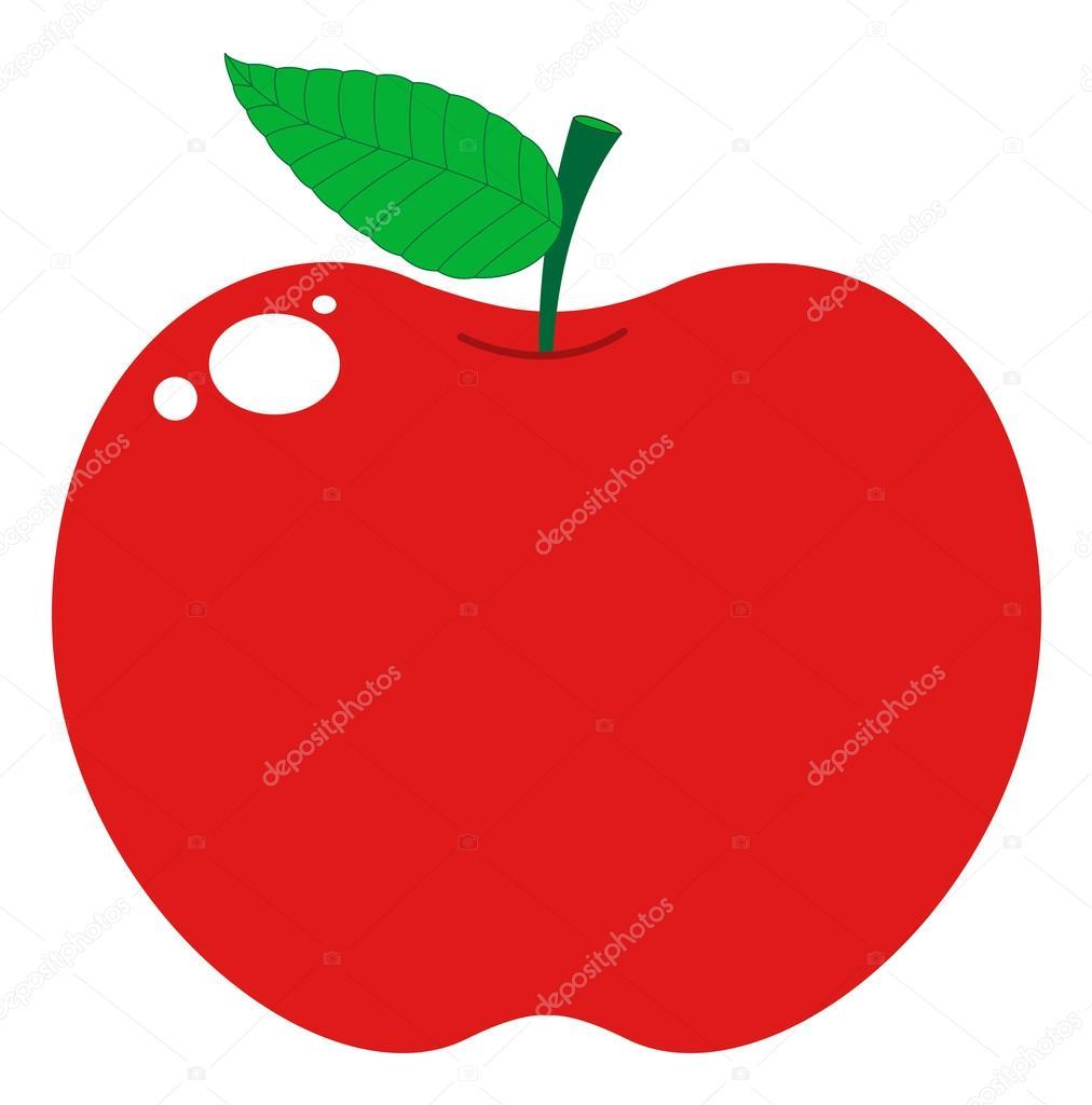 parlak elma — Stok Vektör © baavli #57838385