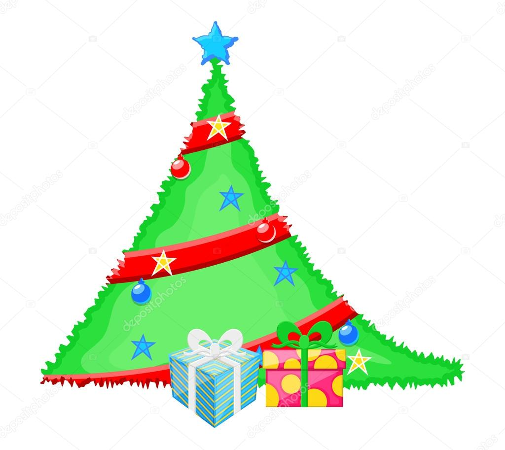 Clipart Christmas Tree With Gifts Decorative Christmas