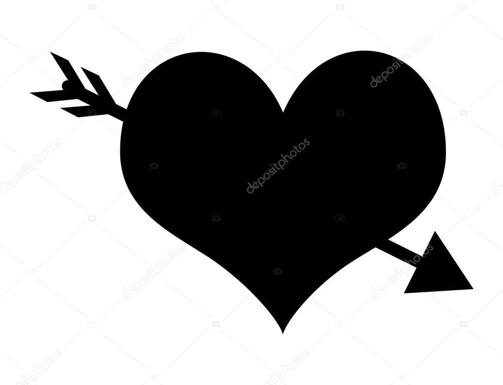 arrow heart shape stock vector baavli 58145457. Black Bedroom Furniture Sets. Home Design Ideas