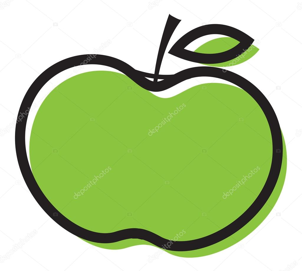 green apple clipart stock vector baavli 58239129 rh depositphotos com green apple clipart free red yellow and green apple clipart