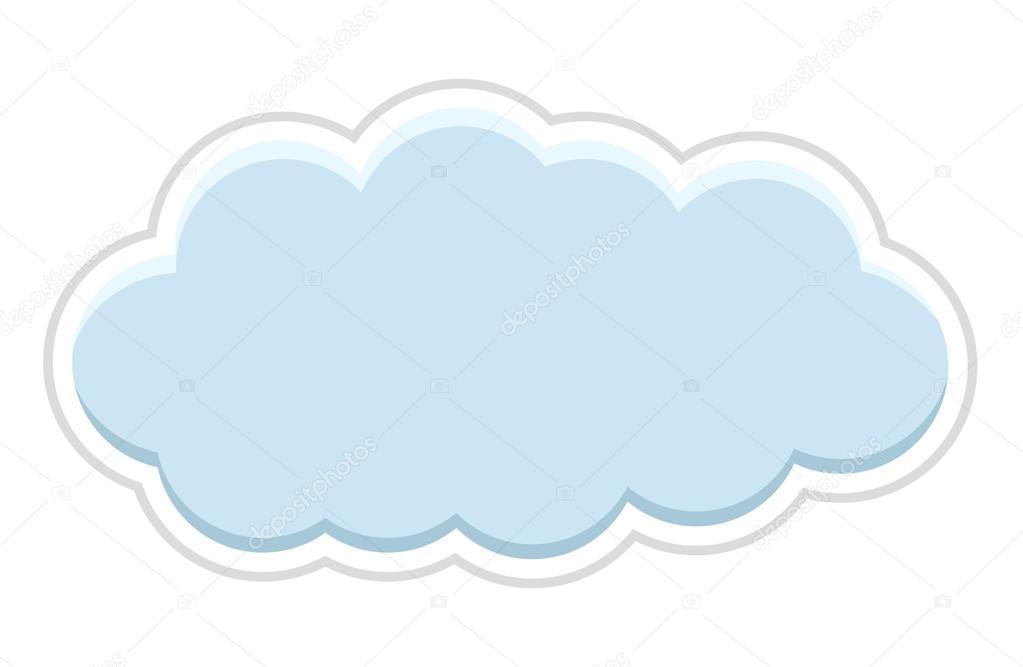 Cloud Sticker Banner — Stock Vector © baavli #58305645