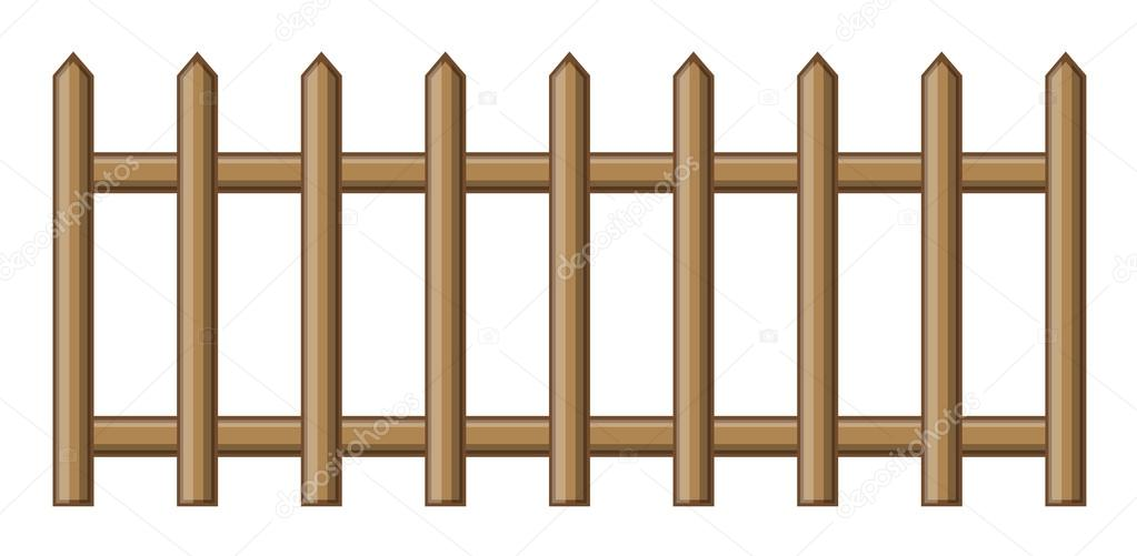 Wooden Fence — Stock Vector © baavli #58331977