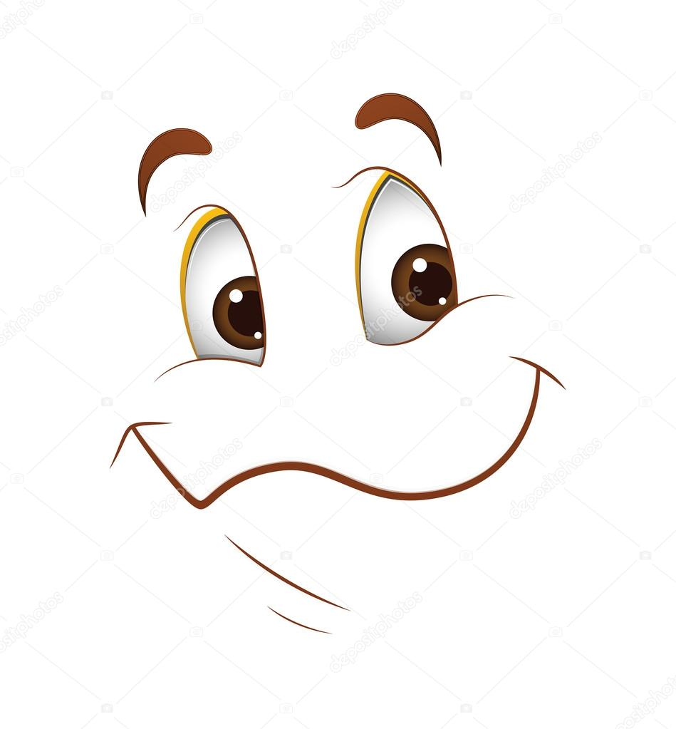 Mutlu Yüz Ifadesi Stok Vektör Baavli 61222571