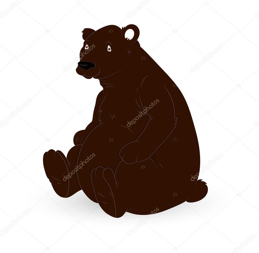 personagem de urso marrom dos desenhos animados vetores de stock