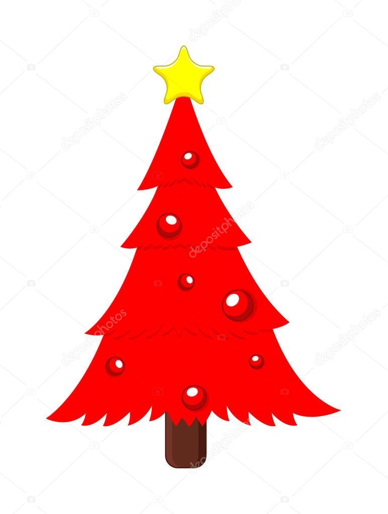 Rbol de navidad rojo con estrellas y bolas archivo - Comprar arboles de navidad decorados ...