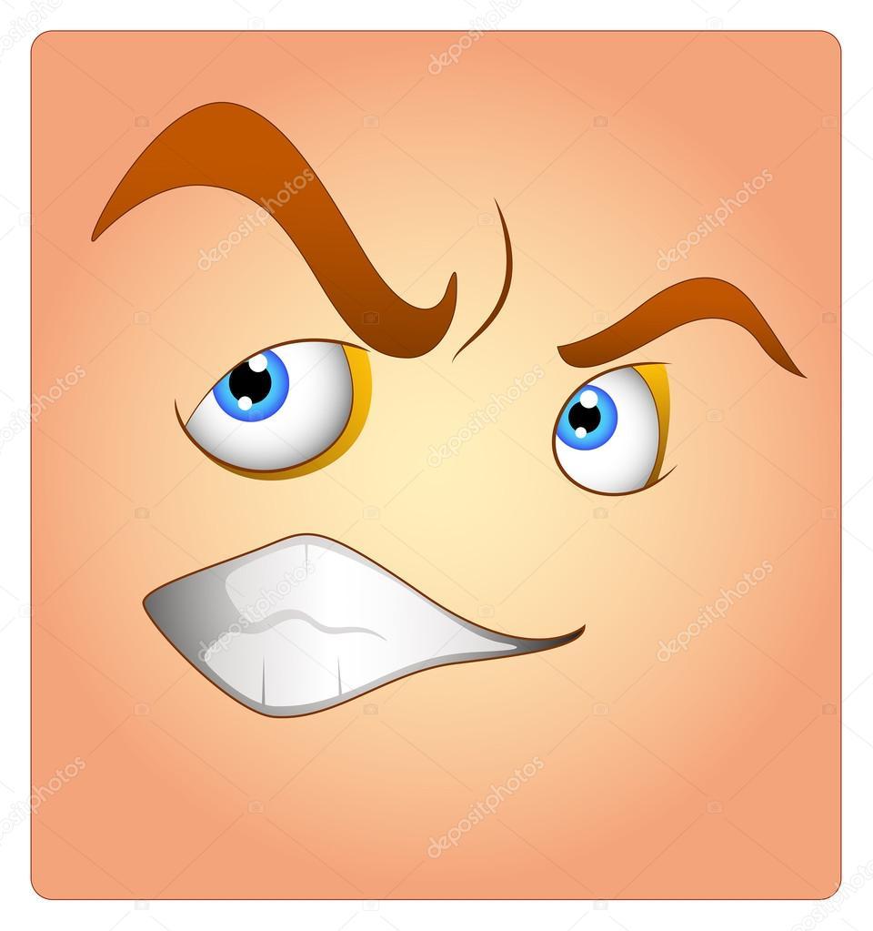 Irritated Box Smiley — Stock Vector © baavli #62034409