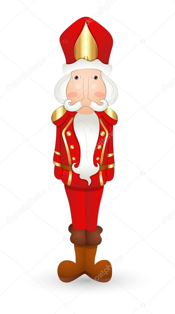Personaje de dibujos animados Cascanueces — Vector de stock © baavli ...