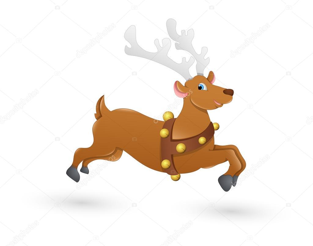 Blitzen Navidad Renos Corriendo