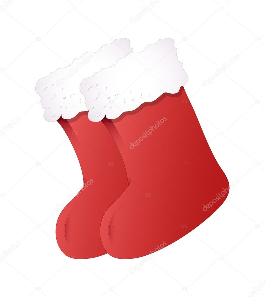 cartoon santa claus vector socks elements u2014 stock vector baavli