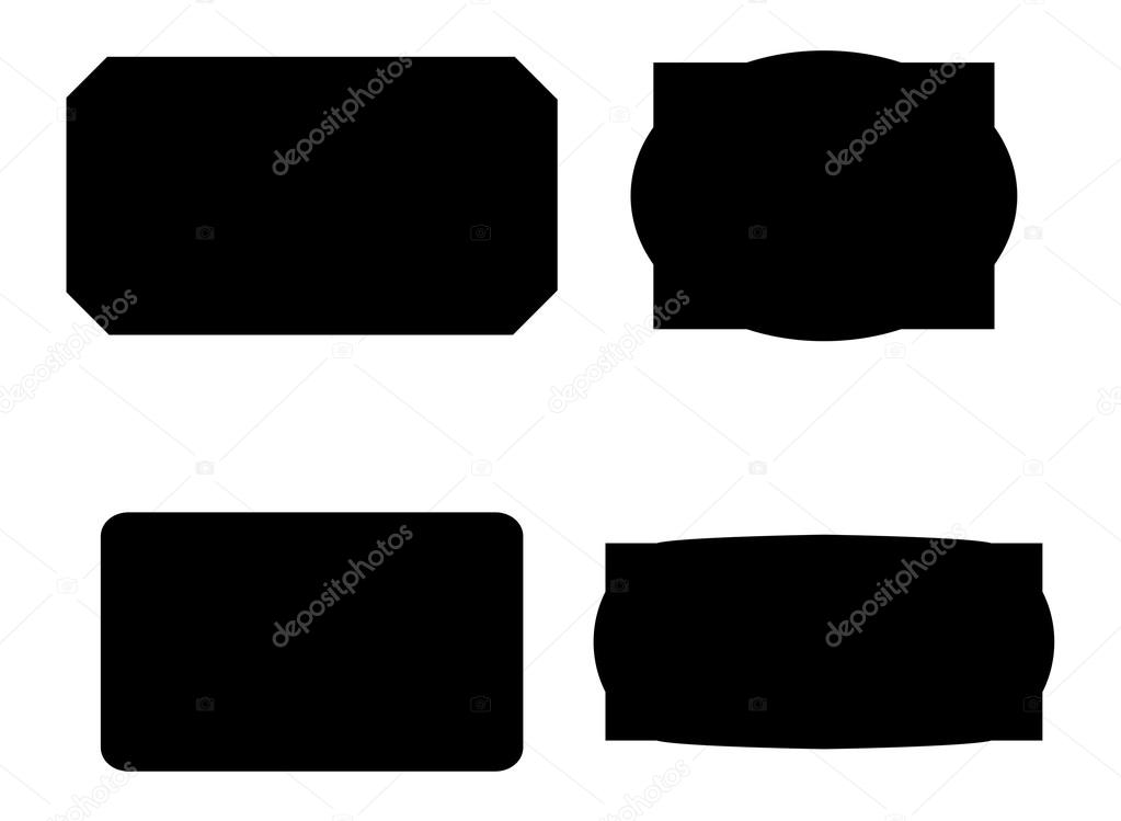 shapes of vector labels stock vector baavli 62677221 rh depositphotos com free vector label shapes illustrator free vector label shapes illustrator
