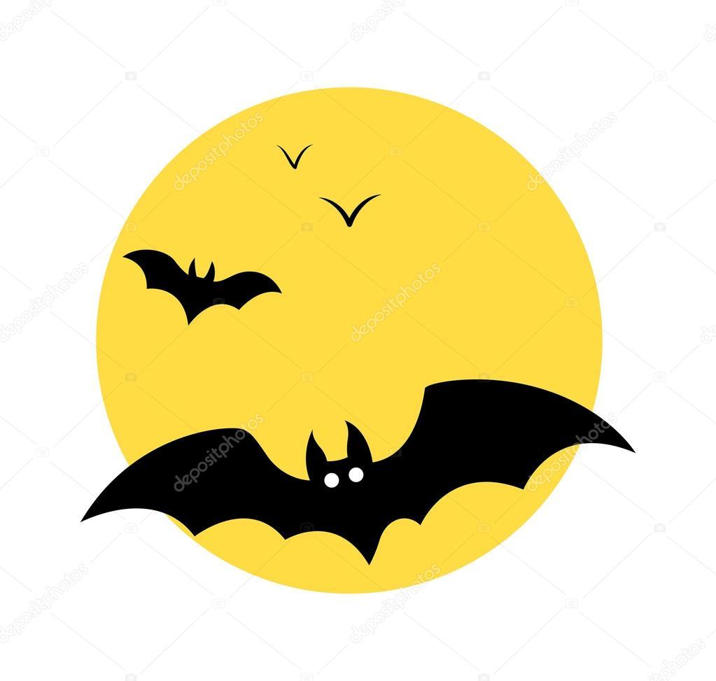 cartoon comic bats flying in moonlight vector graphic background vector by baavli - Halloween Pictures Bats