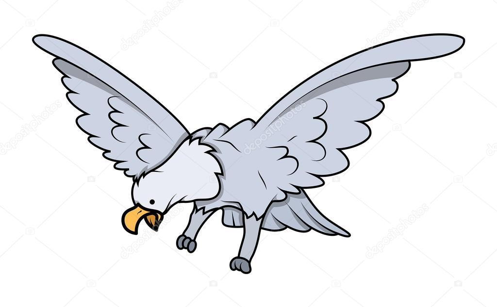 Personaje de dibujos animados Eagle Ave — Archivo Imágenes ...