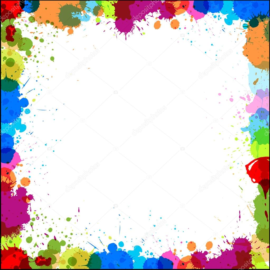 colorful frame border design. Beautiful Frame Abstract Decorative Colorful Splashes Vector Frame Banner Design Background  U2014 By Baavli Inside Border