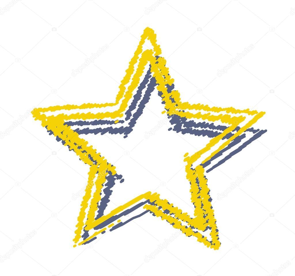 Sterne-Frame-Zeichnung — Stockvektor © baavli #63674023
