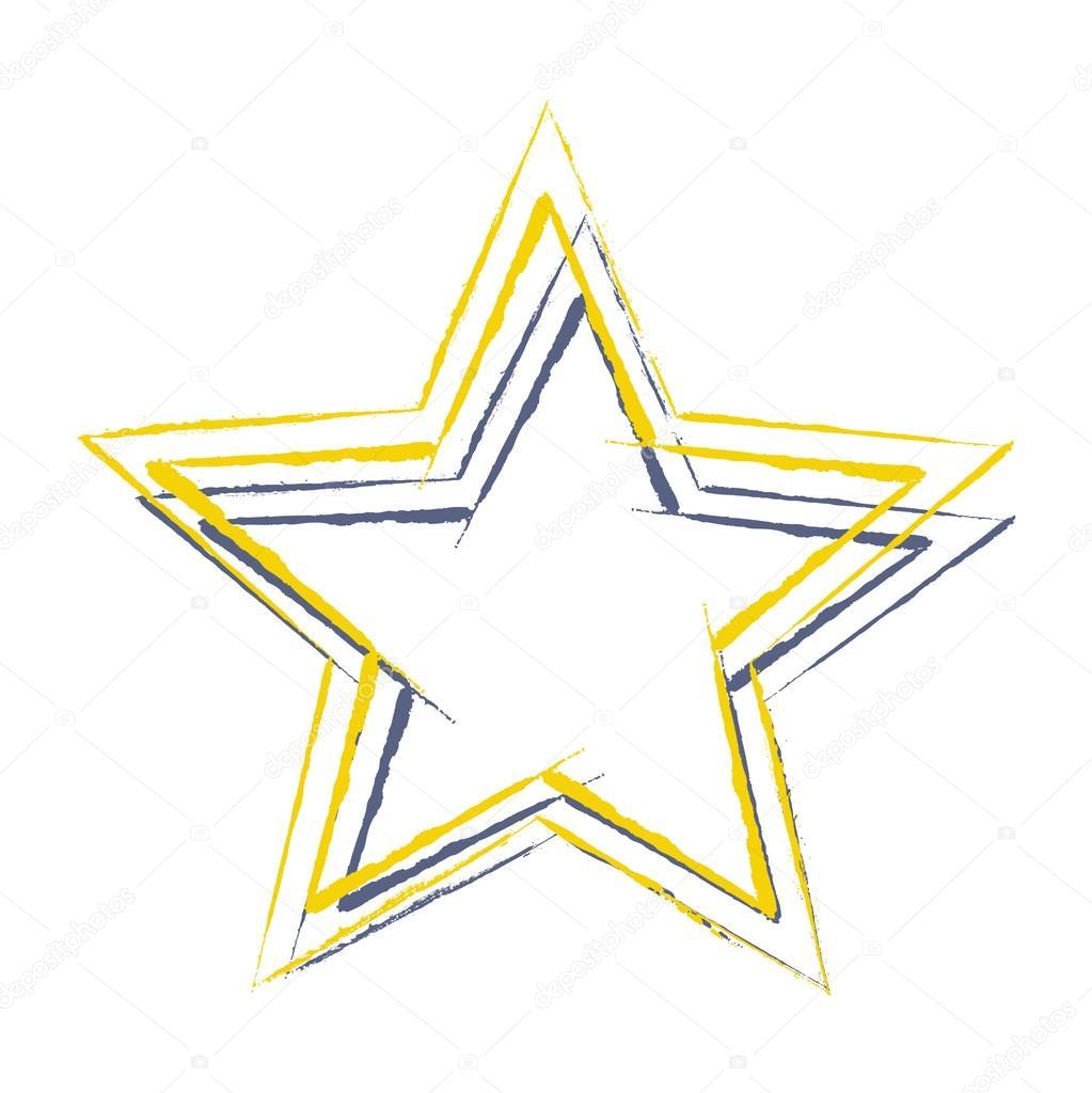 Marcos de estrellas de colores — Vector de stock © baavli #63674099