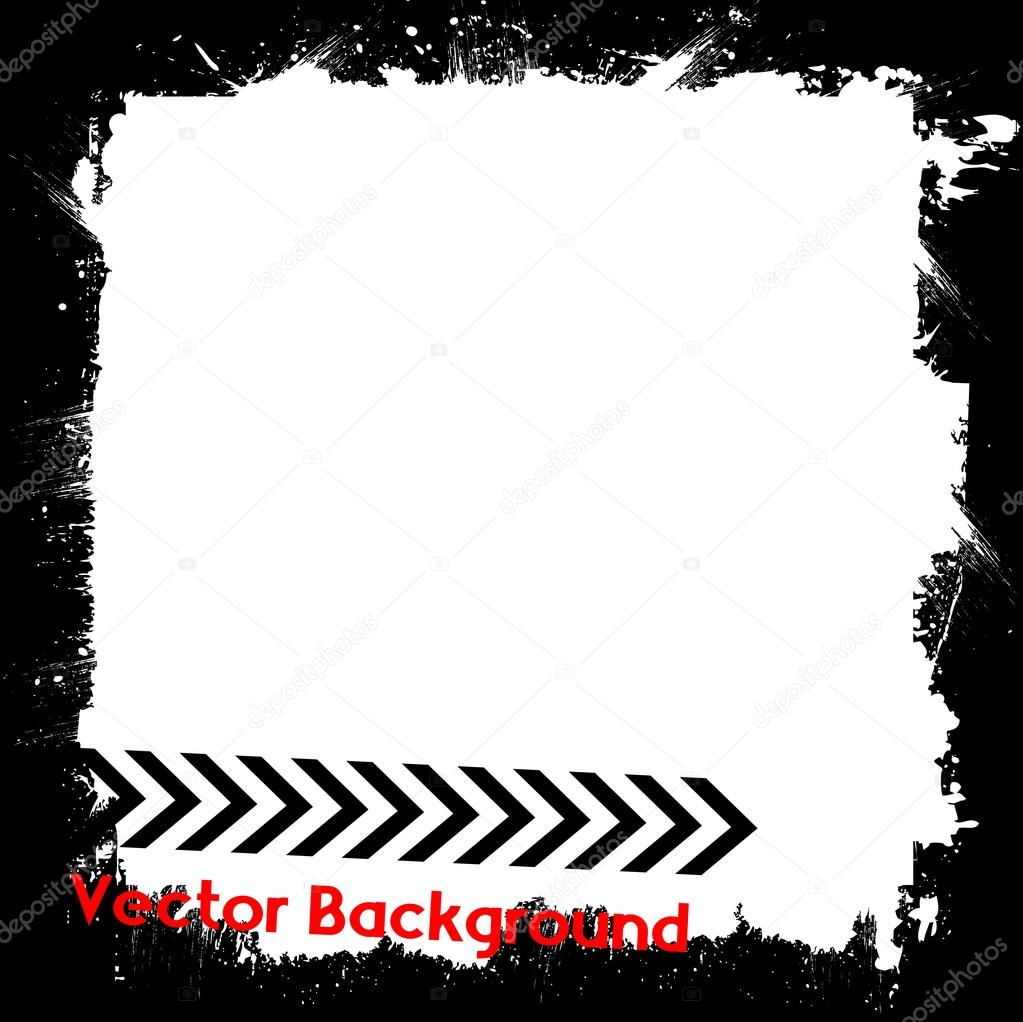 grunge texture border frame stock vector baavli 63680845 rh depositphotos com black grunge background vector grunge background vector free download