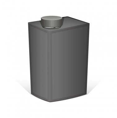 Black Container Isolated on White