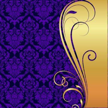 Damask Pattern Floral Background