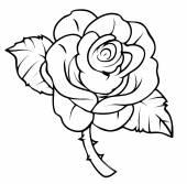 rózsa rajz