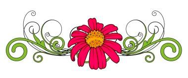 Red Flower Vector Divider