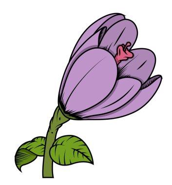 Retro Tulip Flower Vector