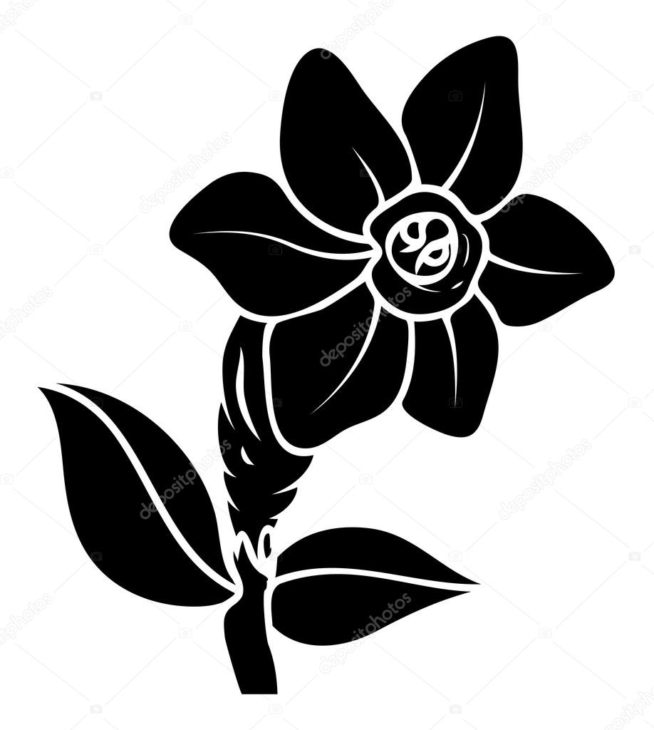 Black Flower Vector Design