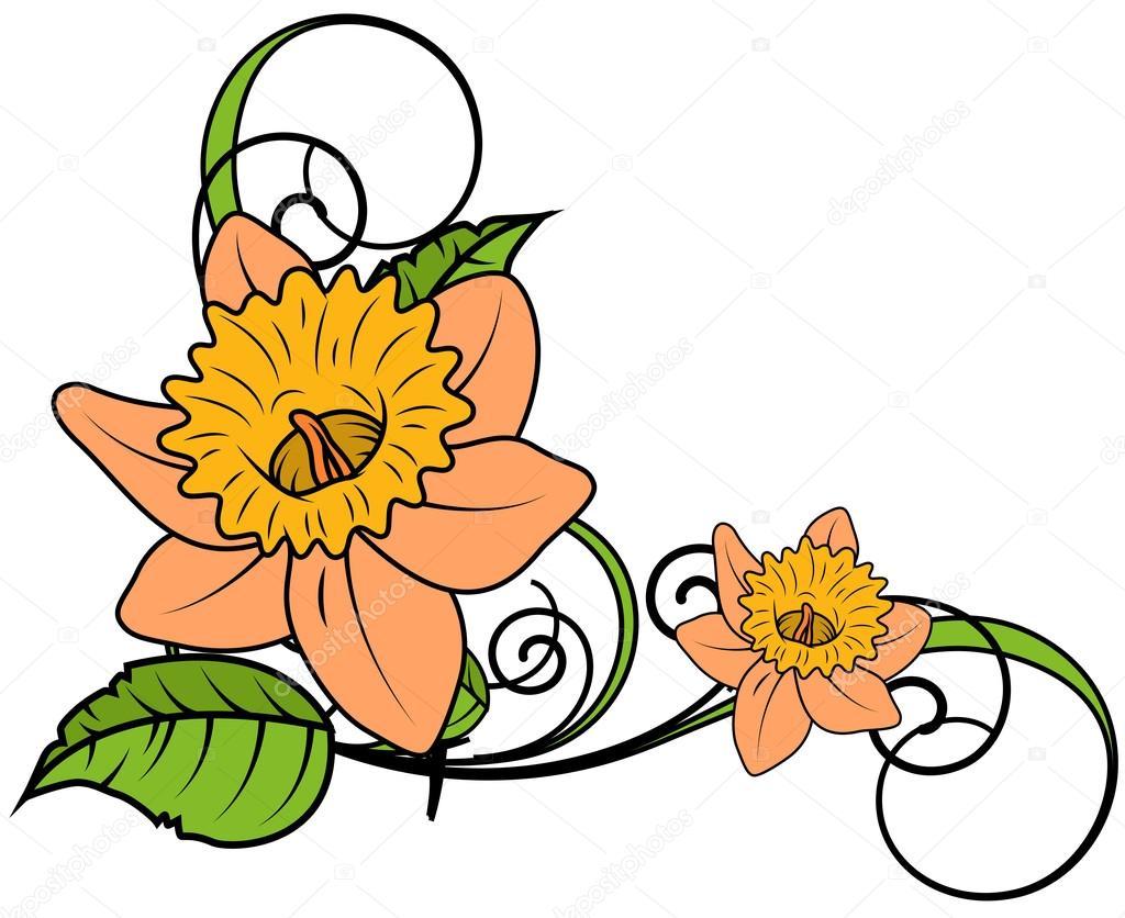 Yellow Flourish Frame