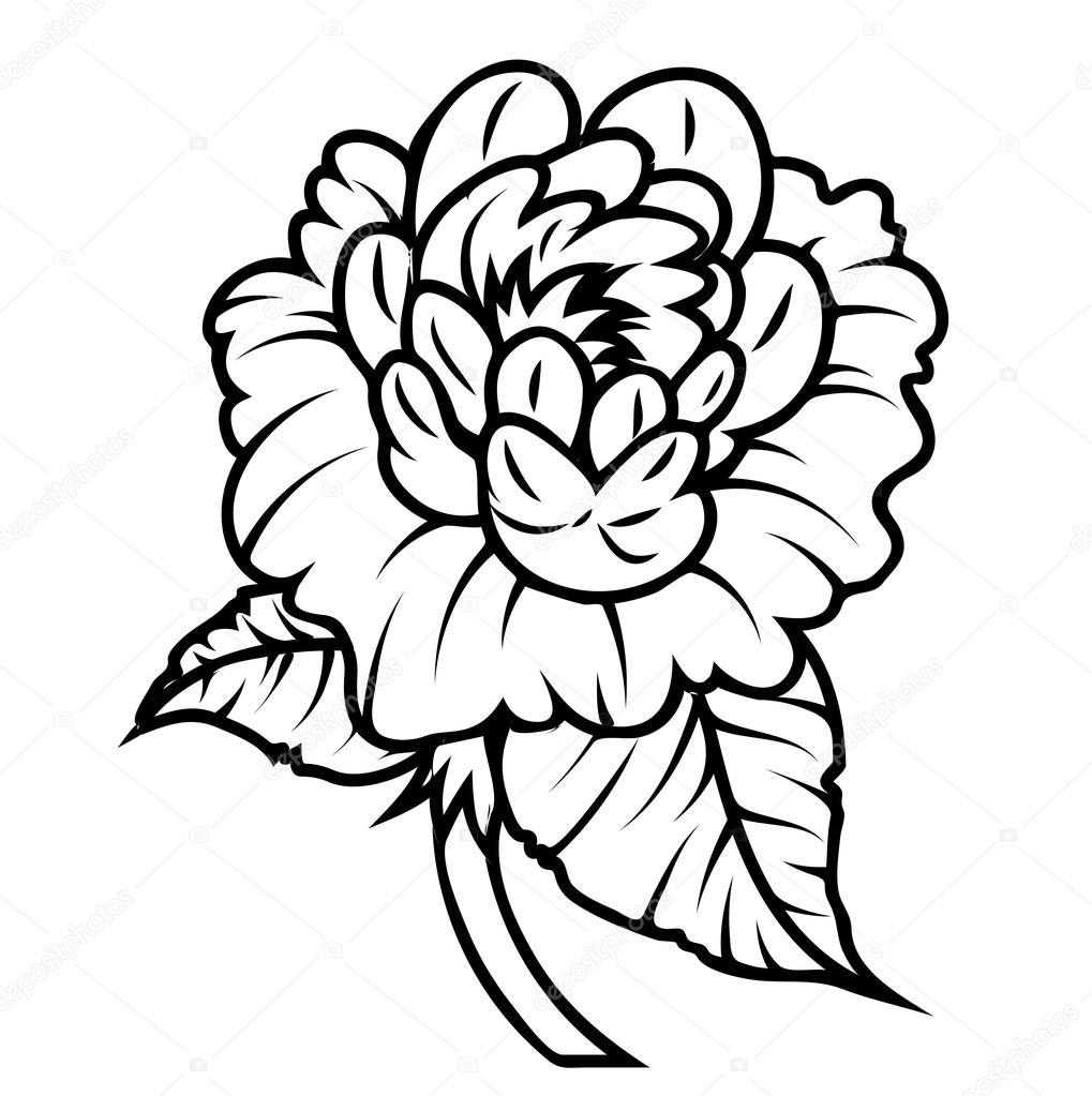 rose tekening stockvector baavli 64339141. Black Bedroom Furniture Sets. Home Design Ideas