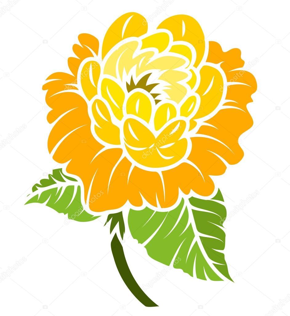 Yellow Rose Drawing Stock Vector Baavli 64339165