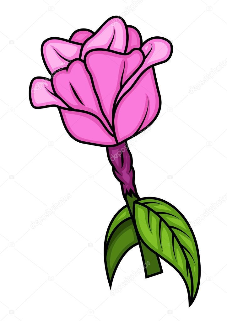 Pink Artistic Festive Rose Flower
