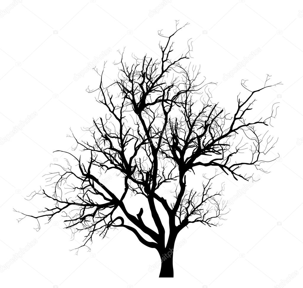 spooky dead tree branches vector stock vector baavli 64421673 rh depositphotos com Vector Dead Tree with Buds dead tree silhouette vector