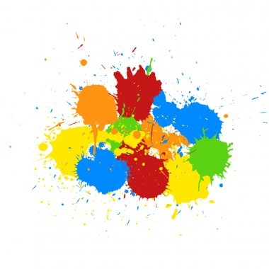 Abstract Colorful Paint Drops