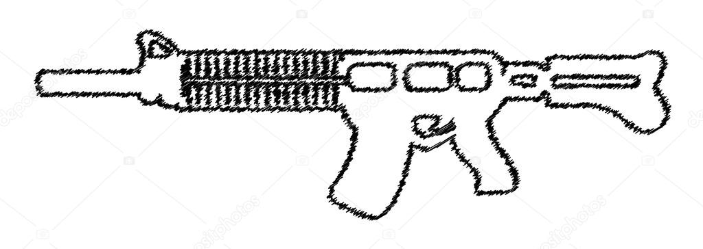 Machine Gun Tekening Stockvector Baavli 64554089