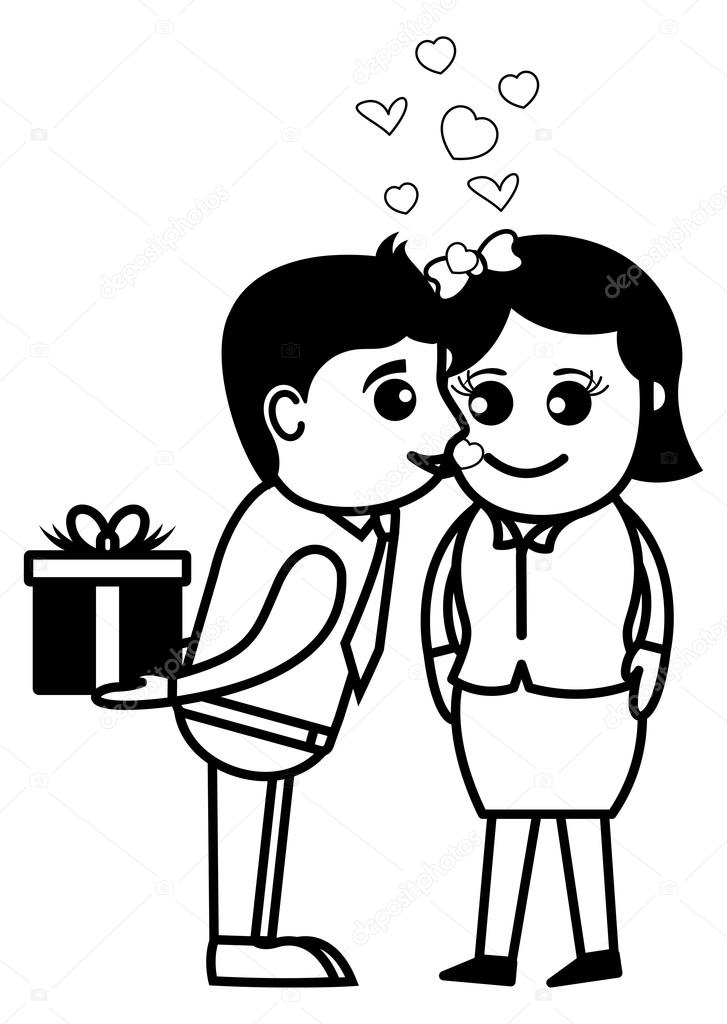 Surprise love gift office and business people cartoon character surprise love gift office and business people cartoon character vector illustration concept negle Choice Image