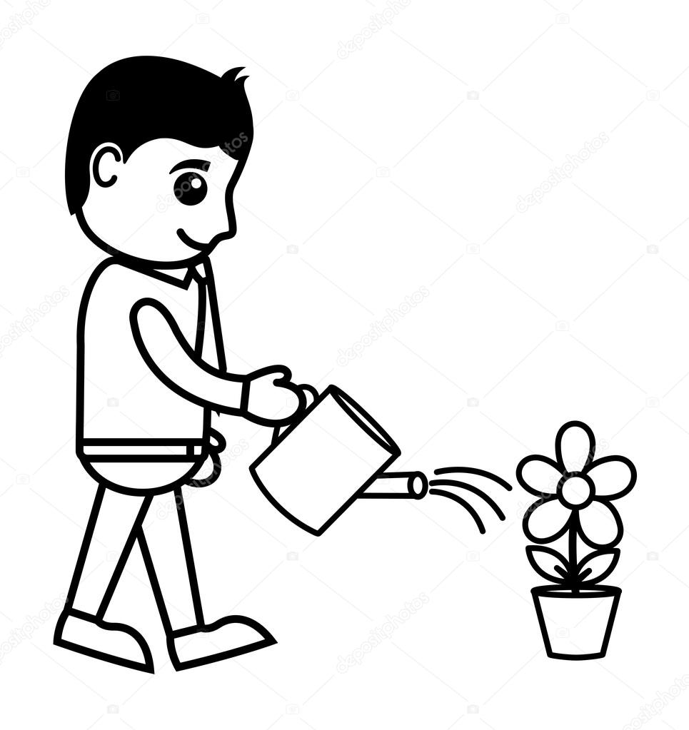 Docmap moreover Watering Lawns as well Stock Illustration Man Watering A Plant Vector additionally 14080 165 also Watch. on water plant