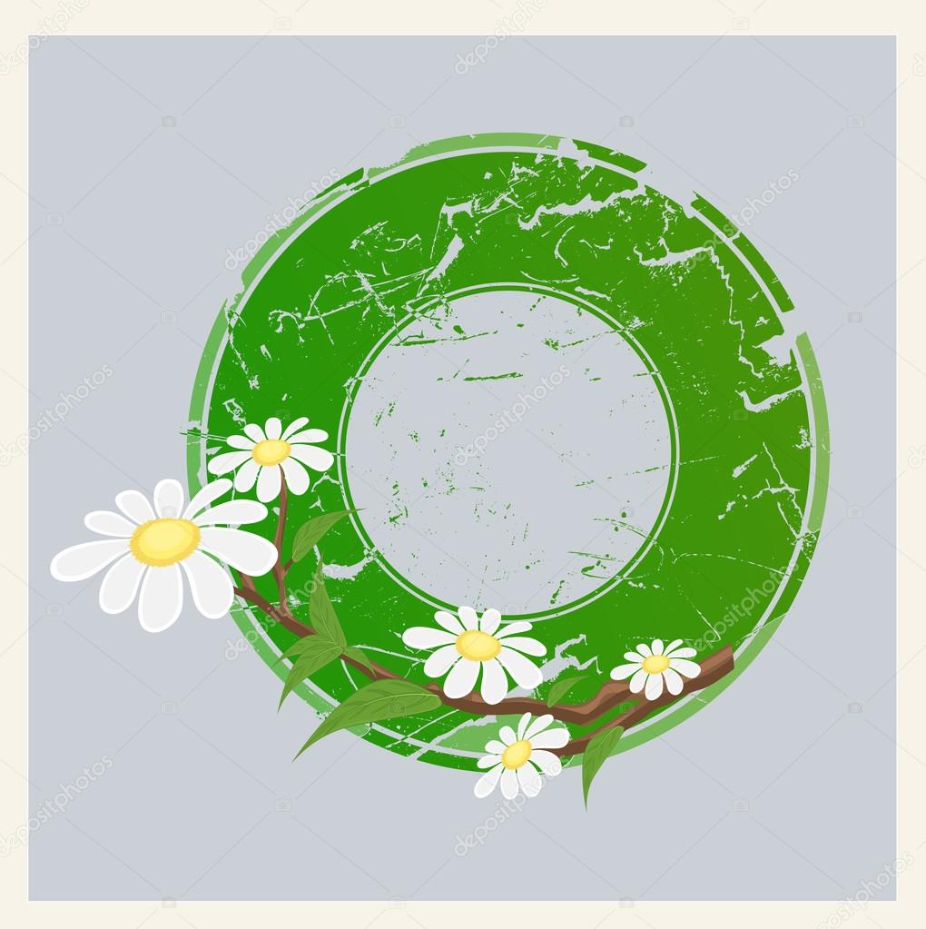 grunge floral circular banner stock vector baavli 69630773