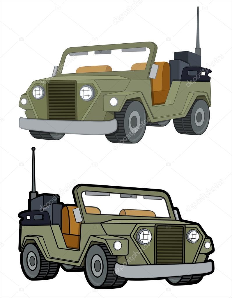 オープンのジープ車のベクトル ストックベクター Baavli 69922739