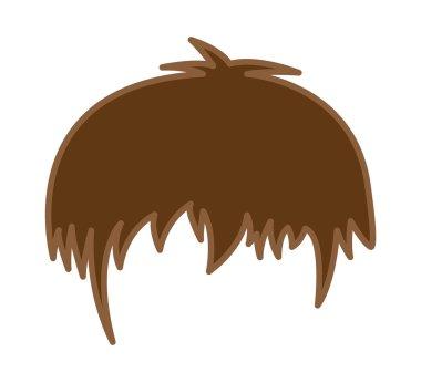 Hair Cartoon Wig Vector