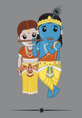 hinduistische Götter - radha krishna