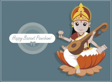 Happy Basant Panchami - Indian Goddess Saraswati Festival