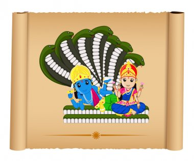 Lord Vishnu with Mata Laxmi